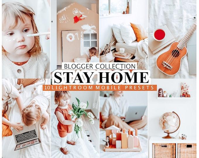 10 Mobile Lightroom Presets Stay Home - Instagram Presets, Lifestyle presets, Lightroom Mobile Presets, Desktop Lightroom Presets