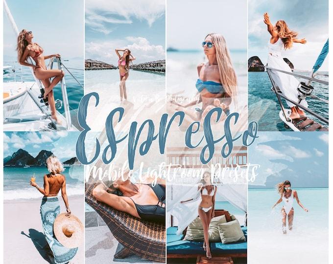 10 Mobile Lightroom Presets ESPRESSO, Soft Photo Editing Filter for Lifestyle Blogger, Instagram Influencer Outdoor Preset