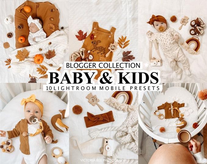 10 Lightroom Presets BABY & KIDS, mobile presets for baby, newborn presets, instagram filter for kids, mommy presets, family filter