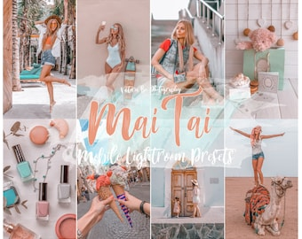 5 Lightroom Mobile Presets MAI TAI Summer Travel Presets Lifestyle Presets Bright Presets Photography Preset Instagram presets Photo filter