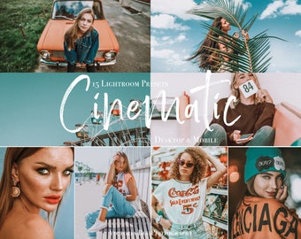 15 Lightroom Presets for desktop and mobile CINEMATIC,  Instagram Filters For Blogger, Outdoor Film preset, Profeccional Photo Editing
