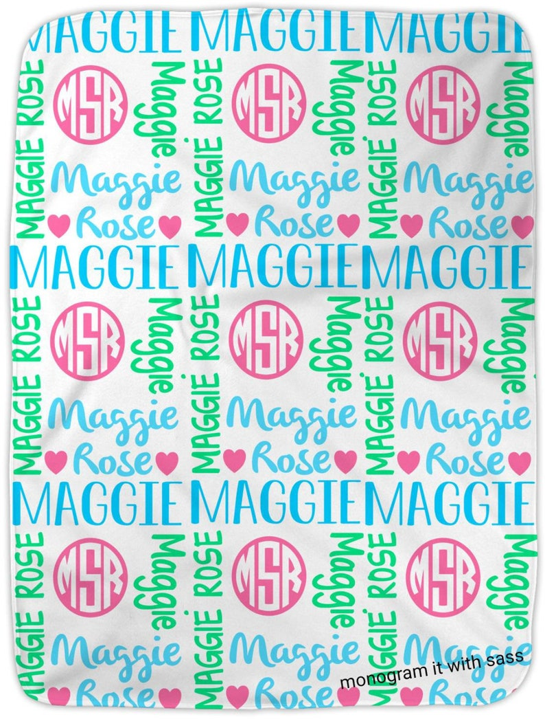 Personalized Baby Blanket Personalized Name Blanket Baby Girl Blankey Baby Shower Gift Swaddle Blanket Bring Home Baby Monogram