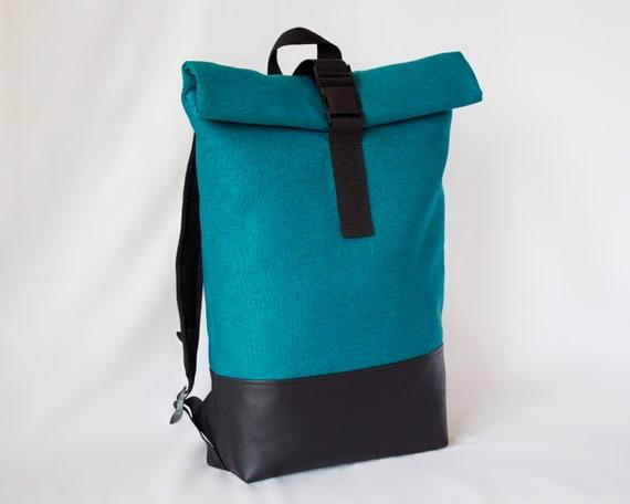 another chance cozy fresh fashion style River Flood backpack, Rolltop rucksack, Vegan leather backpack, Canvas  backpack, Waterproof bag, Canvas rucksack, Unisex backpack, Sport bag