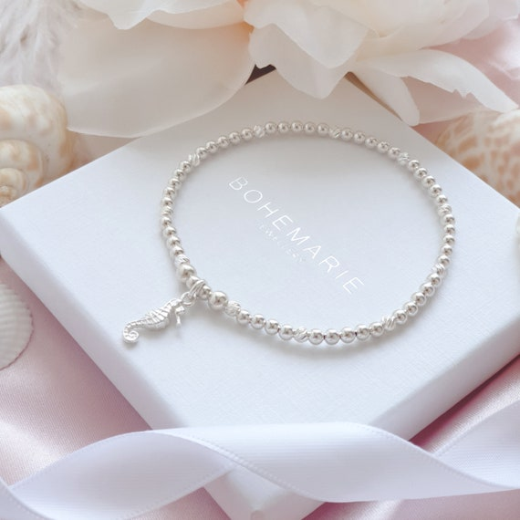 Minimalist jewelry Bracelets Cord tie bracelet Friendship bracelet Dainty bracelet Jewelry Gold seahorse charm Seahorse bracelet