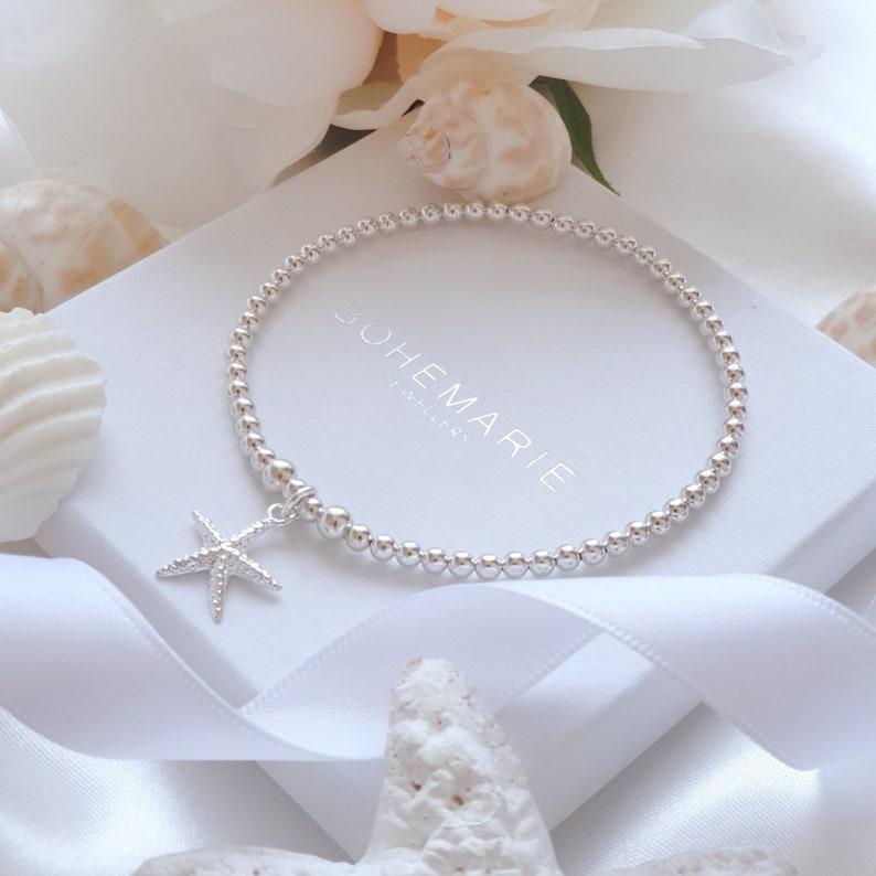 Sterling zilveren Starfish armband armbanden voor vrouwen image 0