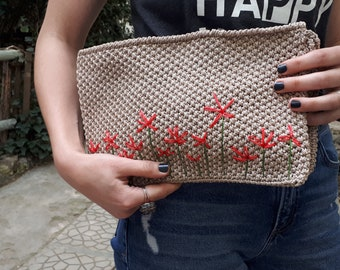 Handmade Handbag, Bag, Flowers Bag