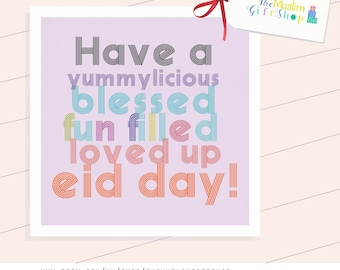 Eid Card, Yummylicious, Loved up day!