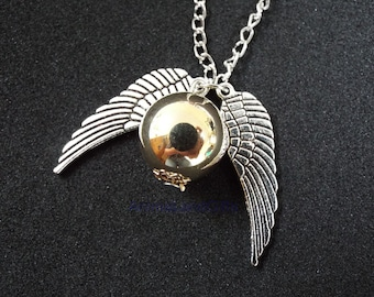 Harry Potter quidditch Golden Snitch Necklace perfect gift
