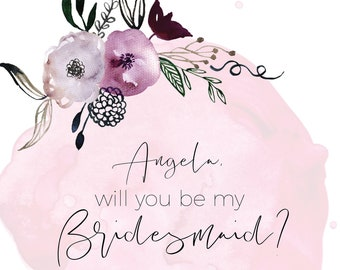 Will You Be My Bridesmaid,Will You Be My Bridesmaid Card,Will You Be My Bridesmaid Gift,Will You Be My Bridesmaid Printable, Bridesmaid Gift