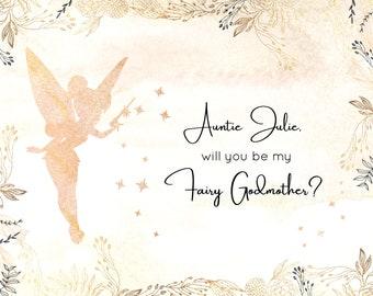 Will You Be My Godmother,Will You Be My Godmother Card,Will You Be My Godmother Gift,Will You Be My Godmother Printable,Godmother Gift,PDF