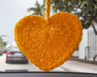 Crochet Hearts   Baby Shower Gift   Heart KeyChain   Back To School Bag Accessory   Heart Holiday Gift   Heart Applique   Car Accessory