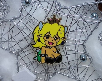 Blonde Bowsette Hard Enamel Pin - Glitter & Gold