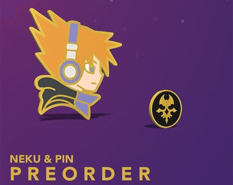 Preorder | Neku and his Pin, Hard Enamel Pin, gold plated
