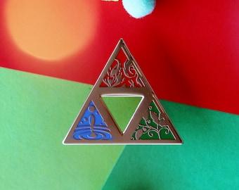 Zelda Inspired Hard Enamel Pin Triforce!