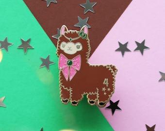 Alpaca x Sailor Scouts ++ Jupiter Enamel Pin - Glitter & Gold
