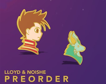 Preorder | Lloyd and Noishe, Tales Of Symphonia, JRPG, RPG, Hard Enamel Pin, gold plated