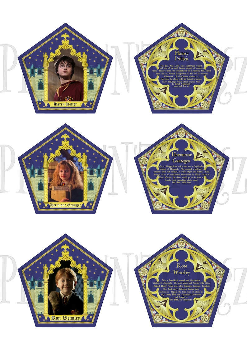 photograph relating to Harry Potter Chocolate Frog Cards Printable referred to as Harry Potter Layout Chocolate Frog Box Investing Playing cards - Prompt Down load PDF