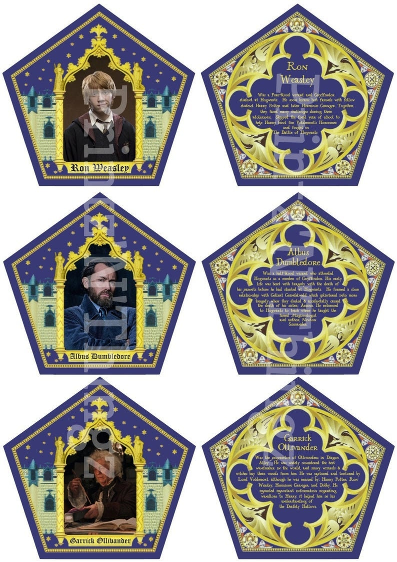 photograph regarding Harry Potter Chocolate Frog Cards Printable titled Wizard World wide Chocolate Frog Box and Final Card Range, 180 playing cards with box.