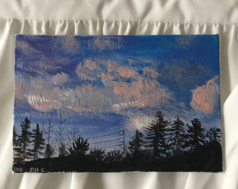 small sky painting