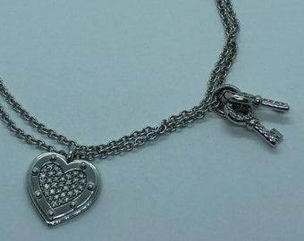 17598fef6 Tiffany & Co Please Return to Tiffany Love 18K White Gold Diamond Bracelet