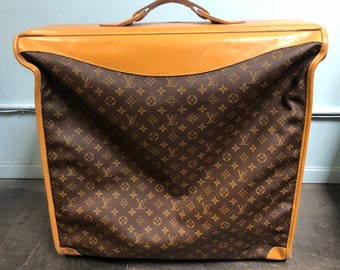 Vintage Authentic Louis Vuitton Monogram Canvas Leather Garment Travel Bag  w  COA aa37c9c5e7e01