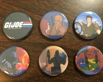 G.I. Joe magnets or pin back buttons
