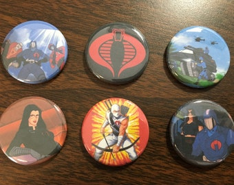 Cobra from G.I. Joe magnets or pin back buttons
