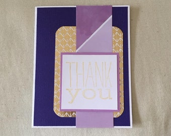 Thank You Card Purple