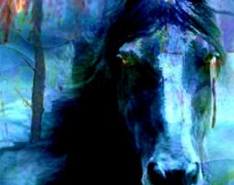 Custom art - acrylic painting of a horse, wildlife painting, gift idea, home decor, wall art, horse art