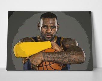 7e97d99ac0b Lebron James Height Poster or Canvas