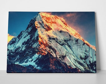 X1506 Himalayan mountains blue skies over mount Everest Poster Print
