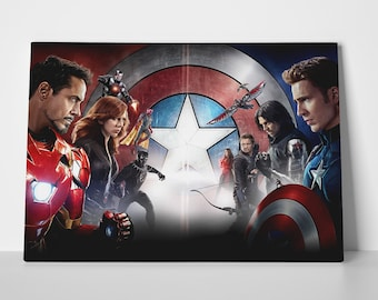 Captain America Civil War Poster or Canvas