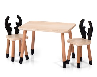 Miraculous Kids Table And Chairs Etsy Home Interior And Landscaping Ologienasavecom