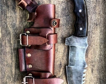 a9a817e71fe6 Survival Knife With Leather Sheath- Gift For Man