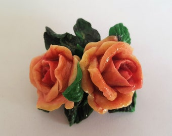 Rosie's Dream - Clay bouquet brooch