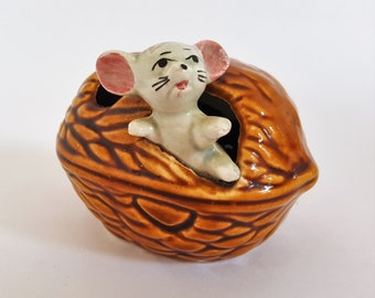 In a Nutshell - 60s Mouse Ornament