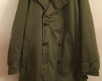 WWII Army Wool Overcoat