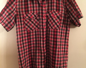 1950s Checkered Rockabilly Shirt by FashionMaker