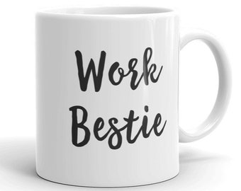 Work Bestie Mug Best Gifts For Office Her Coworker Gift Men Birthday Ideas Employee Cup