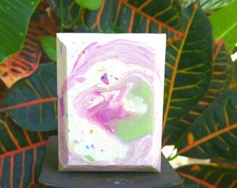 Purple and Green Confetti Swirl