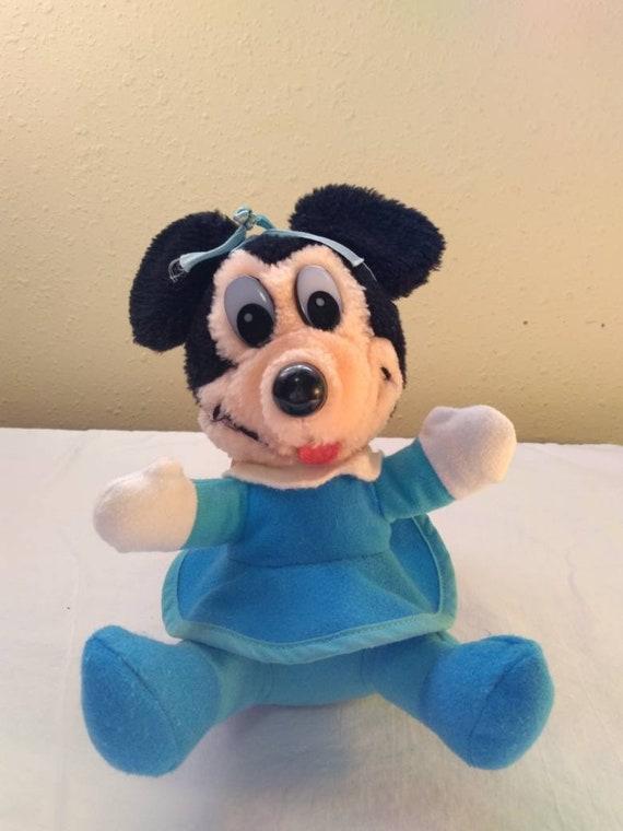 Mickeys Christmas Carol Minnie.Vintage Minnie Mouse Disney 1983 Mickey S Christmas Carol The Movie Minnie As Mrs Cratchit Walt Disney Stuffed Animal