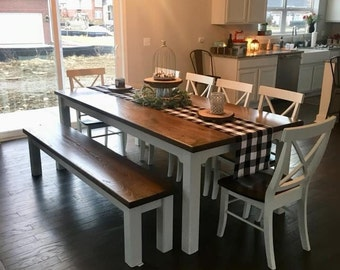 Farmhouse Table   Various Sizes   Dining Table   Kitchen Table