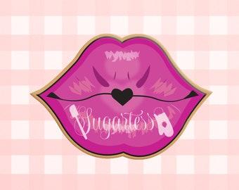 Blowing A Kiss Glitter Hard Enamel Pin
