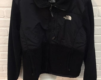 9425a51e65 90s Vintage The North Face Black And White Fleece Sweater - 90s TNF North  Face Denali Fleecy Sweatshirt - 90s Clothing Streetwear Hypebeast
