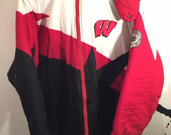 Vintage 90s Reebok Wisconsin Badgers Ncaa Coaches Pullover Jacket Red Xl Fan Apparel & Souvenirs Activewear Jackets