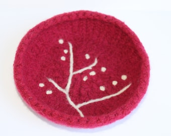 Felted Wool Bowl: The Buttonwood Tree