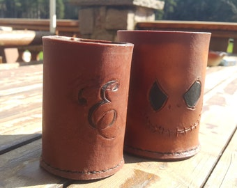 Personalized Rustic Leather Mug
