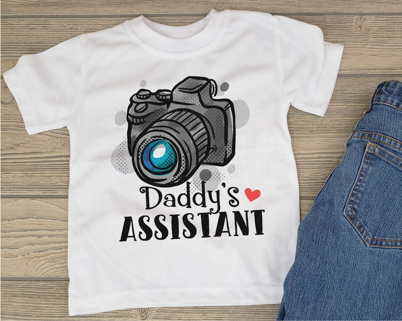 Photographer Gift for boys Camera Gift for girls Photography Toddler T-Shirt Toddler Tee Daddy/'s Assistant Keepsake