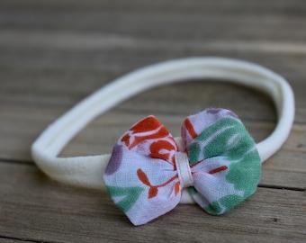 Vintage Handkerchief Bubble Bow with Nylon Headband