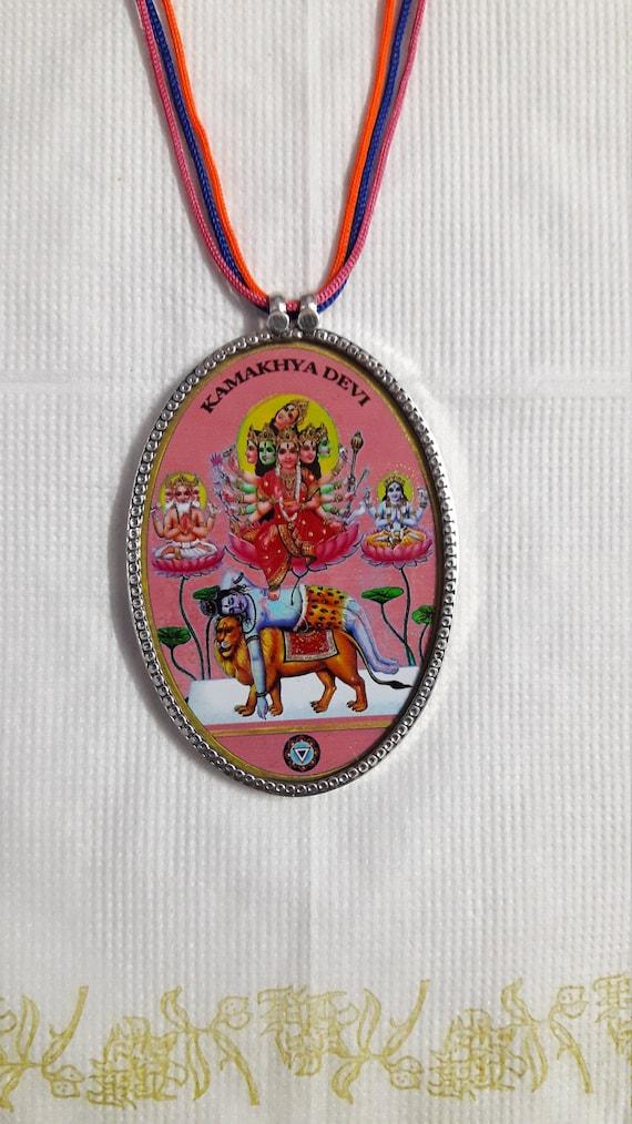 Handmade 92.5 Sterling Silver Deity Loin Face Charm Ethnic Boho Tribal Beautiful Handmade Silver Pendant\u00a0/& Multi Coloured Glass Beads Mall